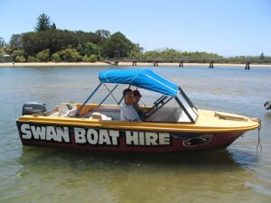 Swan Boat Hire - Lightning Ridge Tourism