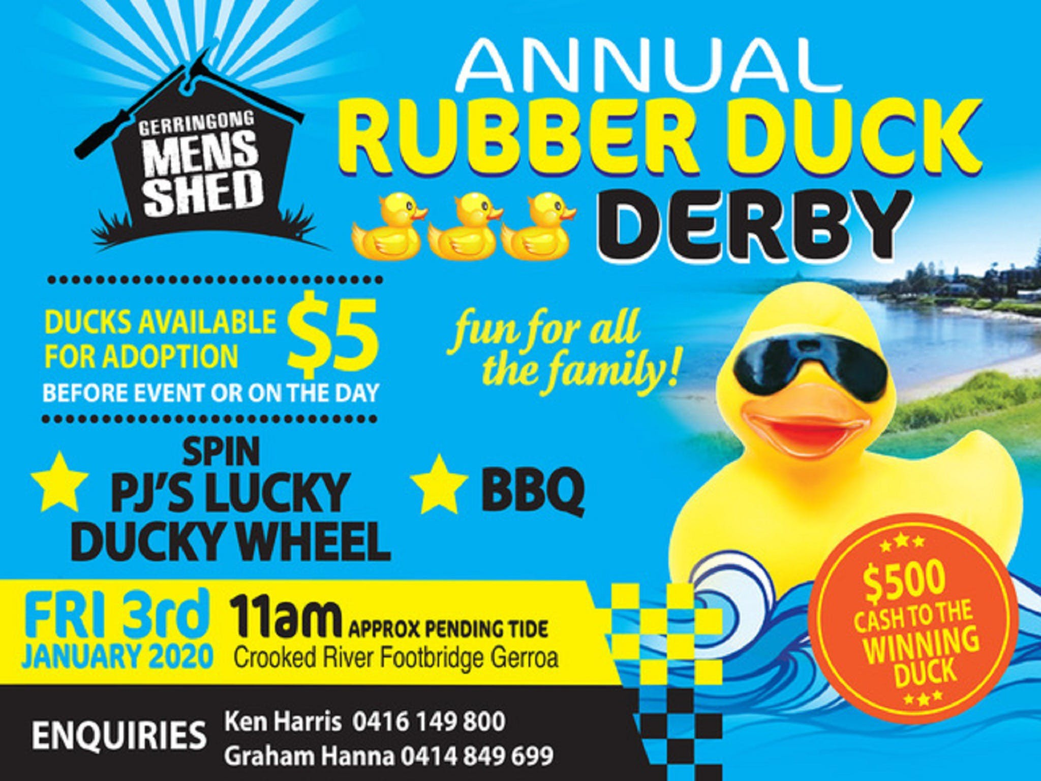 Gerringong Mens Shed Annual Duck Derby - Lightning Ridge Tourism