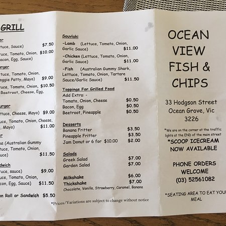Ocean View Fish 'n Chips - Lightning Ridge Tourism